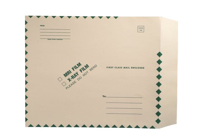 """S-51778 - X-Ray Film Mailers, 11 pt Manila, 15"""" x 18"""", Ungummed, String and Button Closure (Carton of 100)"""