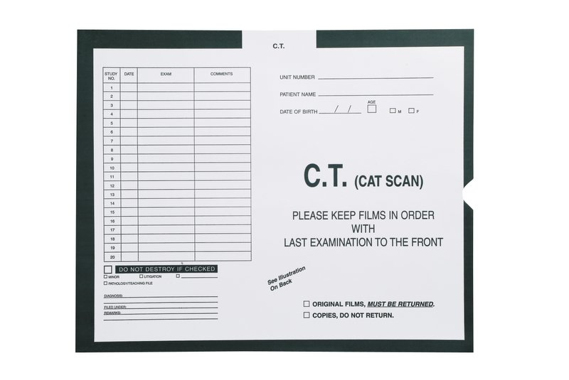 S-54938 - C.T. (Cat Scan), Kelly Green #568 - Category Insert Jackets, System I, Open End - 14-1/4