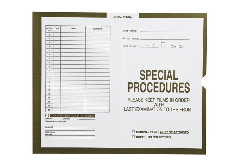 """S-54952 - Special Procedures, Olive #582 - Category Insert Jackets, System I, Open End - 14-1/4"""" x 17-1/2"""" (Carton of 250)"""