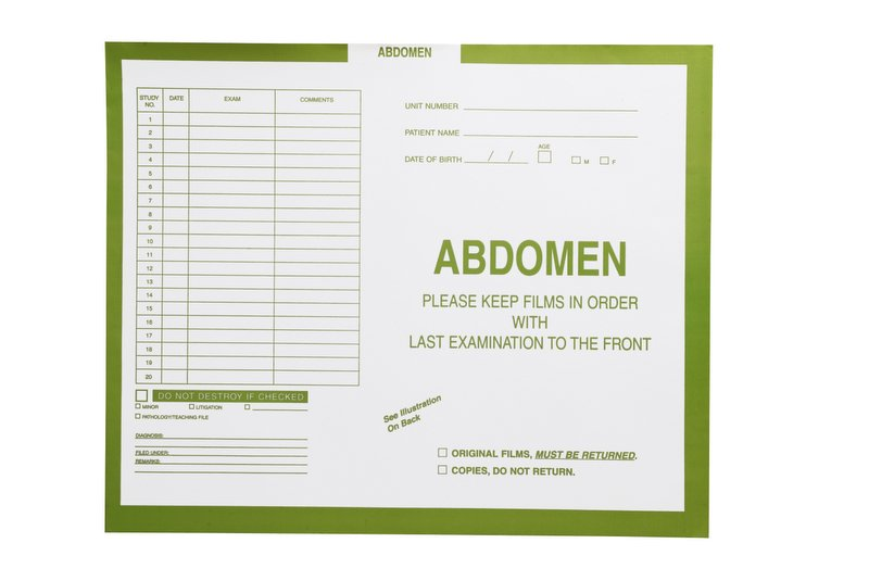"S-54954 - Abdomen, Yellow/Green #381 - Category Insert Jackets, System I, Open Top - 14-1/4"" x 17-1/2"" (Carton of 250)"
