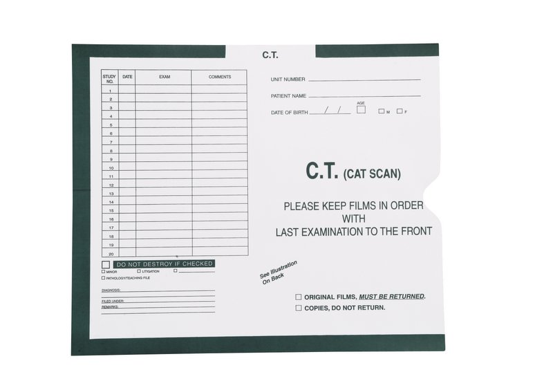 "S-54978 - C.T. (Cat Scan), Magenta #233 - Category Insert Jackets, System I, Open End - 10-1/2"" x 12-1/2"" (Carton of 500)"
