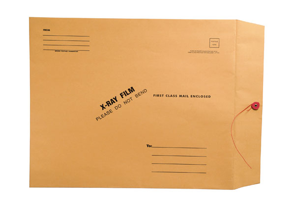 """S-60142 - X-Ray Film Mailers, 32lb Brown Kraft, 15"""" x 18"""", String and Button Closure (Carton of 100)"""