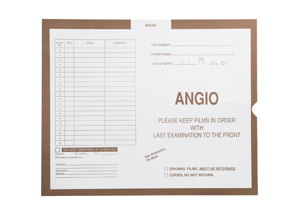 """S-6107 - Angio, Stone #466 - Category Insert Jackets, System II, Open End - 14-1/4"""" x 17-1/2"""" (Carton of 250)"""