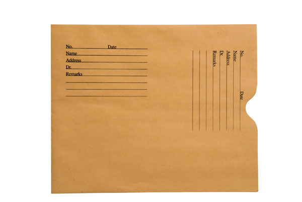 "S-66254 - 28lb Brown Kraft Negative Preserver, Open End, Standard Imprint, 8-1/2"" x 10-1/2"" (Carton of 500)"