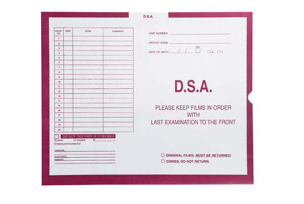 """S-68479 - D.S.A., Magenta #233 - Category Insert Jackets, System I, Open End - 14-1/4"""" x 17-1/2"""" (Carton of 250)"""
