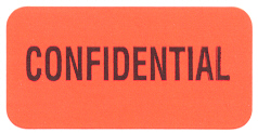 S-8034 - Reminder Labels, Confidential - Red, 1.5