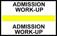 S-8041 - Stick On Index Tabs, ADMMISSION WORK-UP (Yellow) 1-1/2