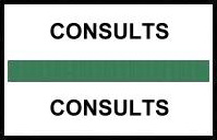 S-8042 - Stick On Index Tabs, CONSULTS (Green) 1-1/2