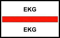 S-8044 - Stick On Index Tabs, EKG (Red) 1-1/2