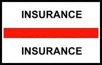 S-8046 - Stick On Index Tabs, INSURANCE (Red) 1-1/2
