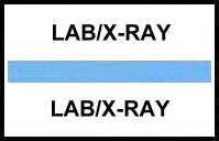 S-8048 - Stick On Index Tabs, LAB/X-RAY (Lt Blue) 1-1/2