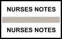 S-8051 - Stick On Index Tabs, NURSES NOTES (Gray) 1-1/2
