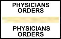 S-8054 - Stick On Index Tabs, PHYSICIANS ORDERS (Gold) 1-1/2