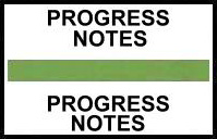 S-8055 - Stick On Index Tabs, PROGRESS NOTES (Lt Green) 1-1/2
