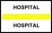 S-8058 - Stick On Index Tabs, HOSPITAL (Yellow) 1-1/2