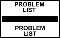 S-8059 - Stick On Index Tabs, PROBLEM LIST (Black) 1-1/2