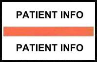 S-8068 - Stick On Index Tabs, PATIENT INFO (Orange) 1-1/2