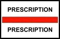 S-8069 - Stick On Index Tabs, PRESCRIPTION (Red) 1-1/2