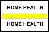 S-8070 - Stick On Index Tabs, HOME HEALTH (Yellow) 1-1/2
