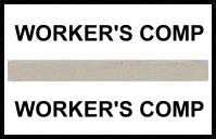 S-8073 - Stick On Index Tabs, WORKER'S COMP (Gray) 1-1/2