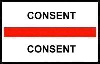 S-8082 - Stick On Index Tabs, CONSENT (Red) 1-1/2