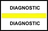 S-8084 - Stick On Index Tabs, DIAGNOSTIC (Yellow) 1-1/2