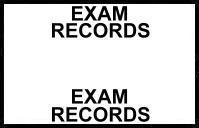 S-8092 - Stick On Index Tabs, EXAM RECORDS (White) 1-1/2