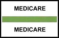 S-8096 - Stick On Index Tabs, MEDICARE (Lt Green) 1-1/2