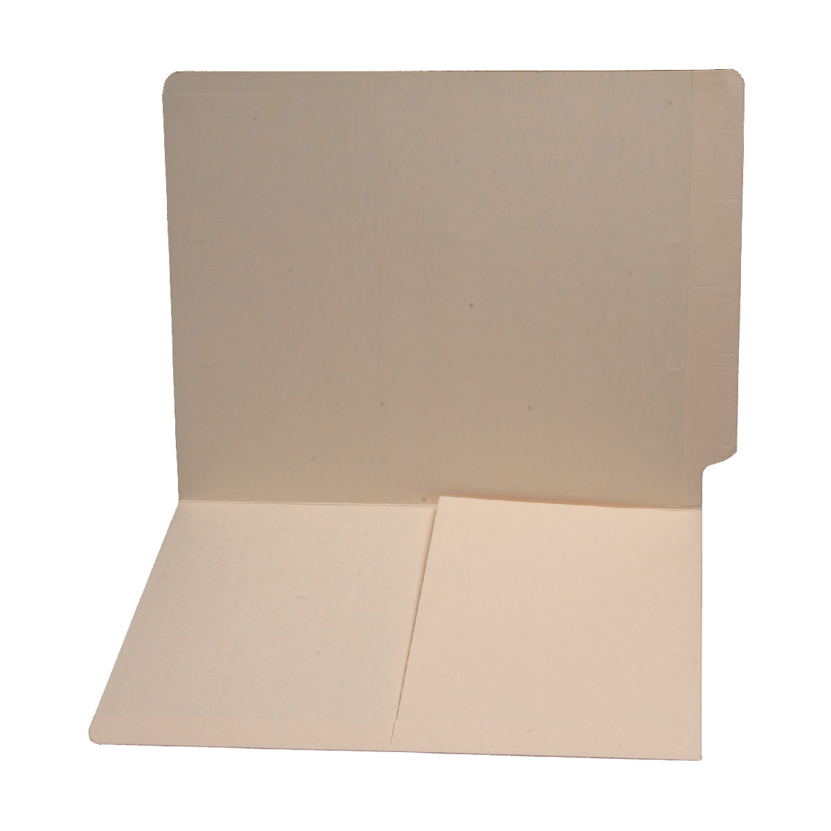 S-9005 - 11 pt Manila Folders, Full Cut End Tab, Letter Size, 1/2 Pocket Inside Front (Box of 50)