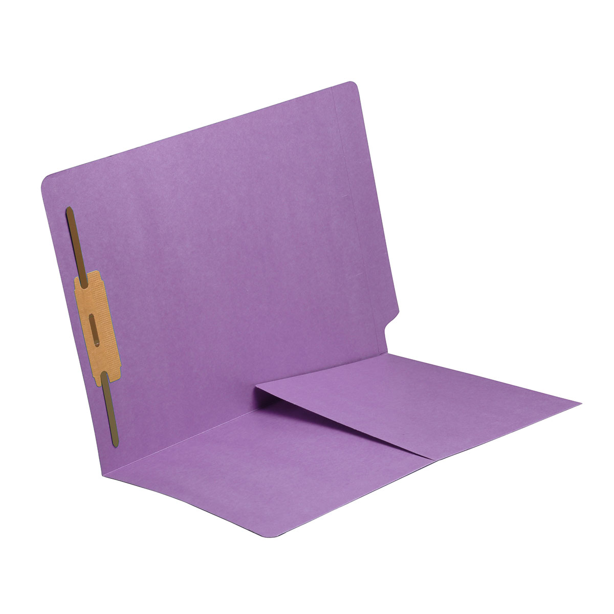 S-9006-LAV - 11 pt Lavender Folders, Full Cut End Tab, Letter Size, 1/2 Pocket Inside Front, Fastener Pos #1 (Box of 50)
