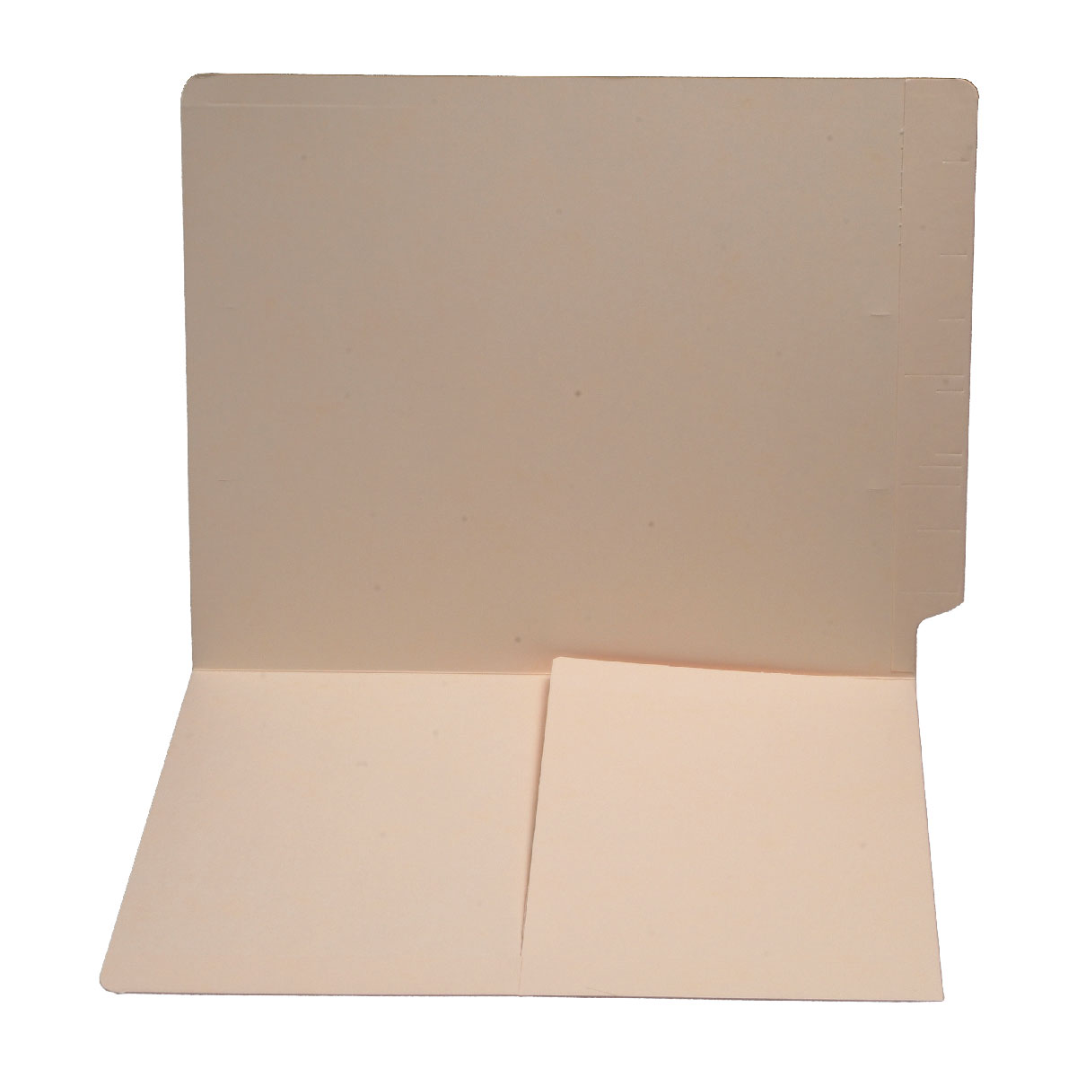 S-9009 - 14 pt Manila Folders, Full Cut End Tab, Letter Size, 1/2 Pocket Inside Front (Box of 50)