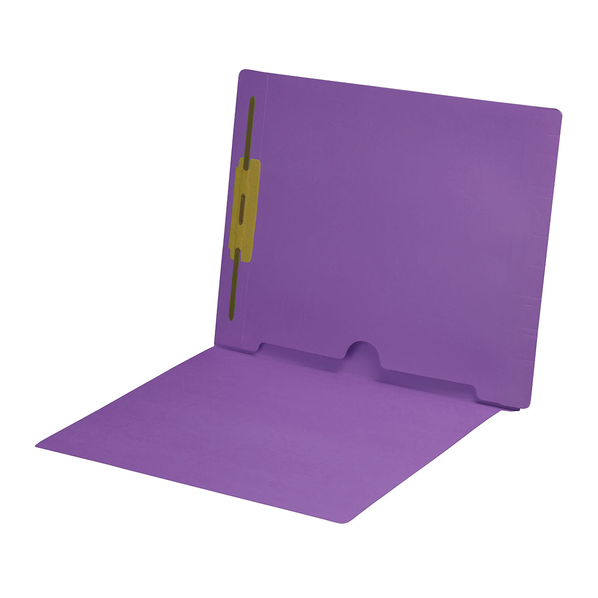 S-9018-LAV - 11 pt Lavender Folders, Full Cut End Tab, Letter Size, Full Back Pocket, Fastener Pos #1 (Box of 50)