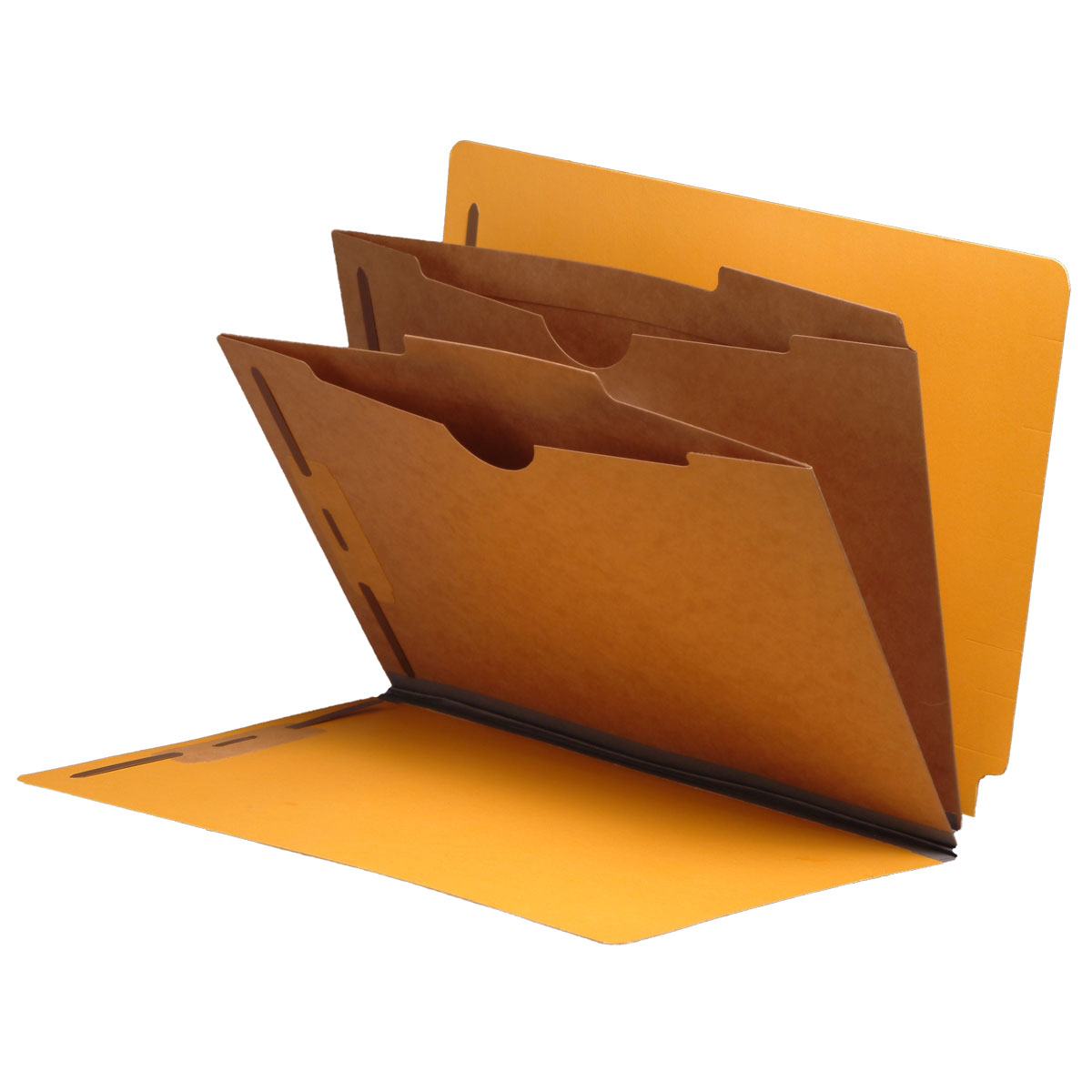 S-9041-YLW - Type I Pressboard Classification Folders, Full Cut End Tab, Letter Size, 2 Pocket Dividers, Yellow (Box of 10)