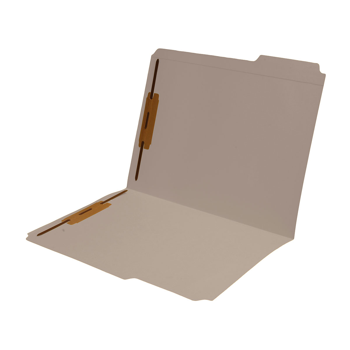 S-9042-GRY - 11 pt Gray Folders, 1/3 Cut Reinforced Top Tab - Assorted, Letter Size, Fastener Pos #1 and #3 (Box of 50)
