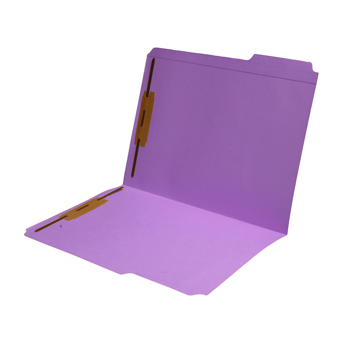 S-9042-LAV - 11 pt Lavender Folders, 1/3 Cut Reinforced Top Tab - Assorted, Letter Size, Fastener Pos #1 and #3 (Box of 50)