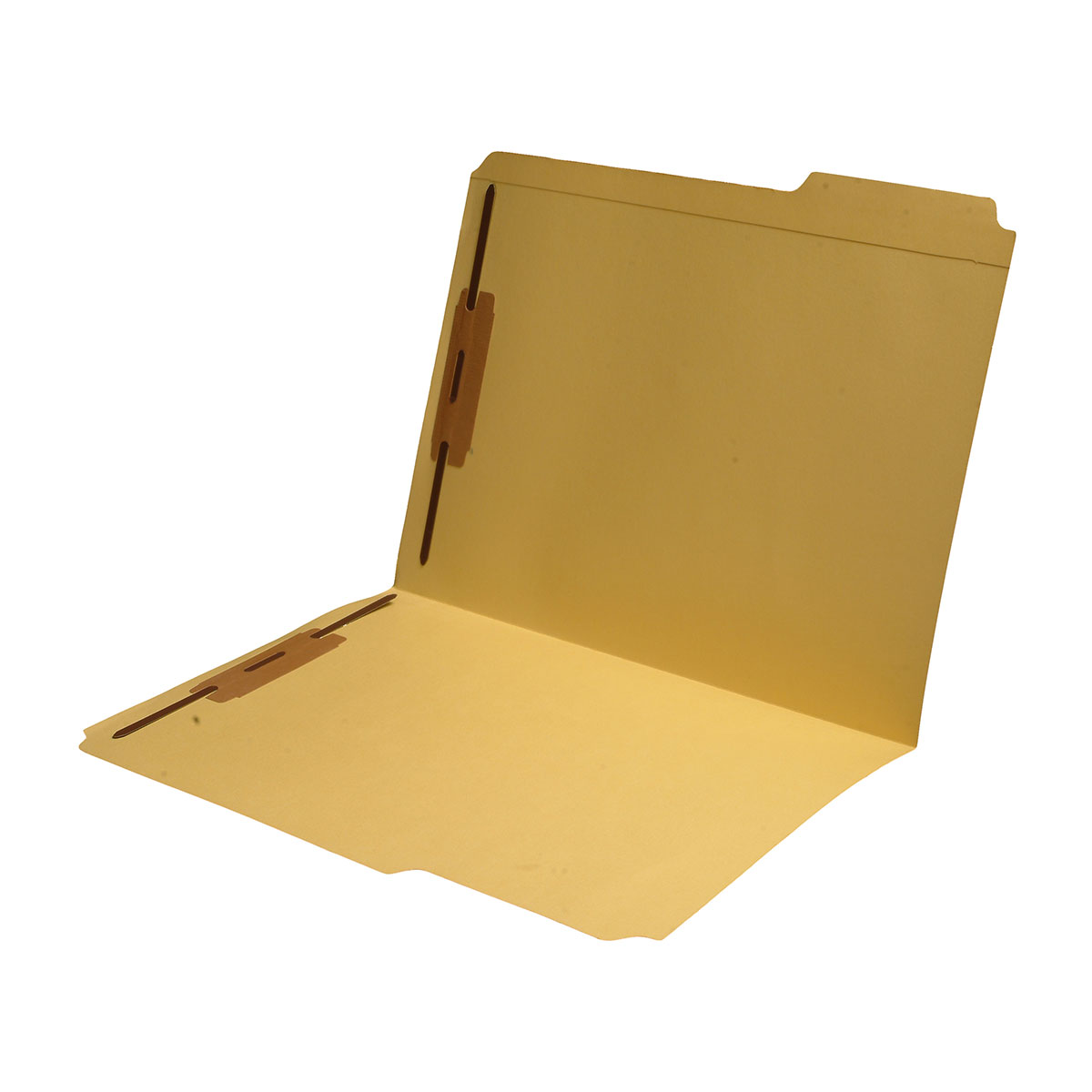 S-9042-YLW - 11 pt Yellow Folders, 1/3 Cut Reinforced Top Tab - Assorted, Letter Size, Fastener Pos #1 and #3 (Box of 50)