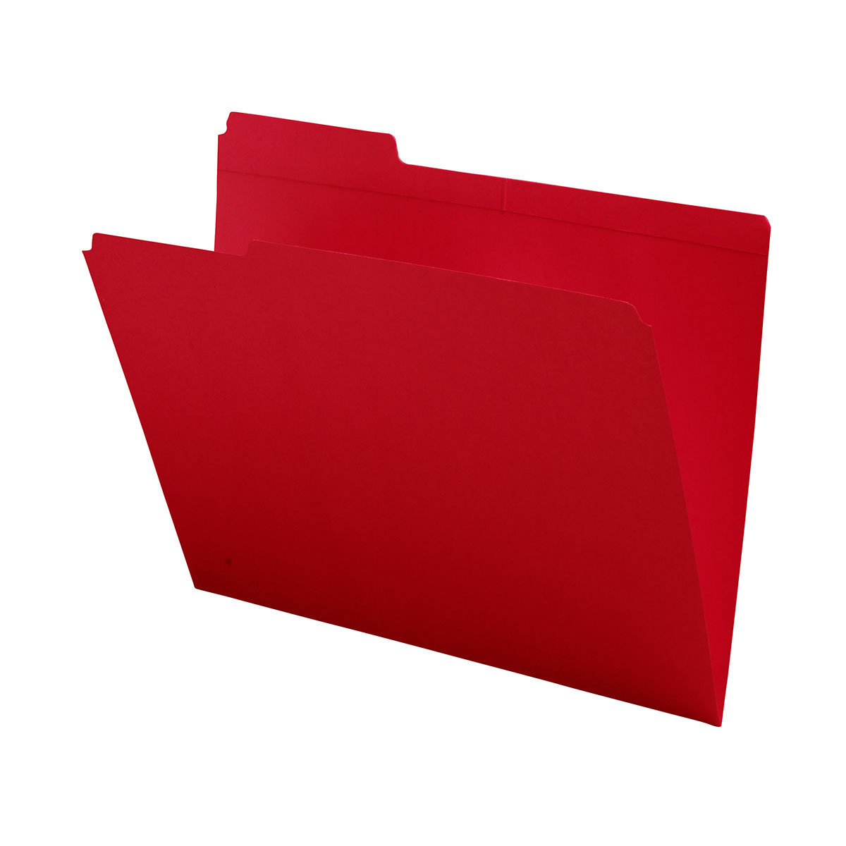 S-9043-RED - 11 pt Red Folders, 1/3 Cut Reinforced Top Tab - Assorted, Letter Size (Box of 100)