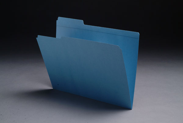 S-9043 - 11 pt Color Folders, 1/3 Cut Reinforced Top Tab - Assorted, Letter Size (Box of 100)