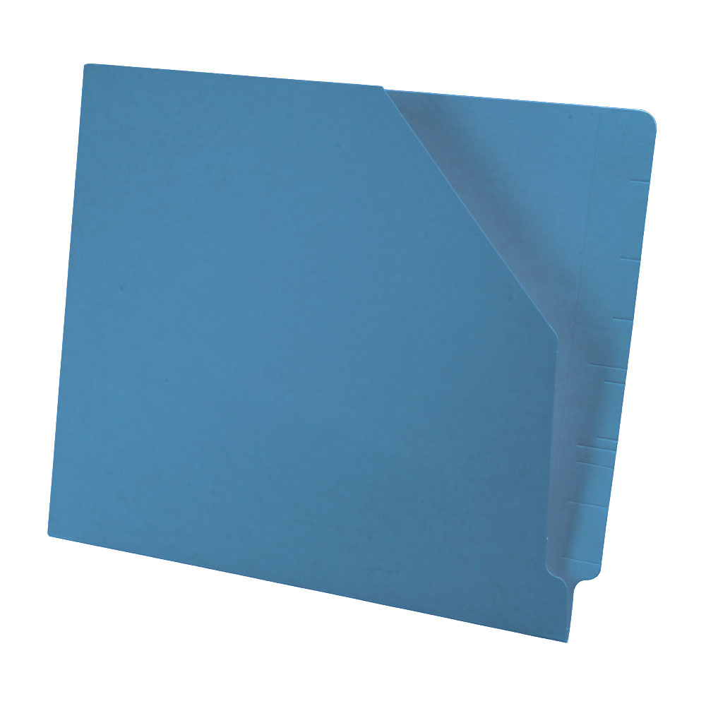 S-9044-BLU - 11 pt Blue Color Jacket, Letter Size, Slant Cut Front (Box of 100)