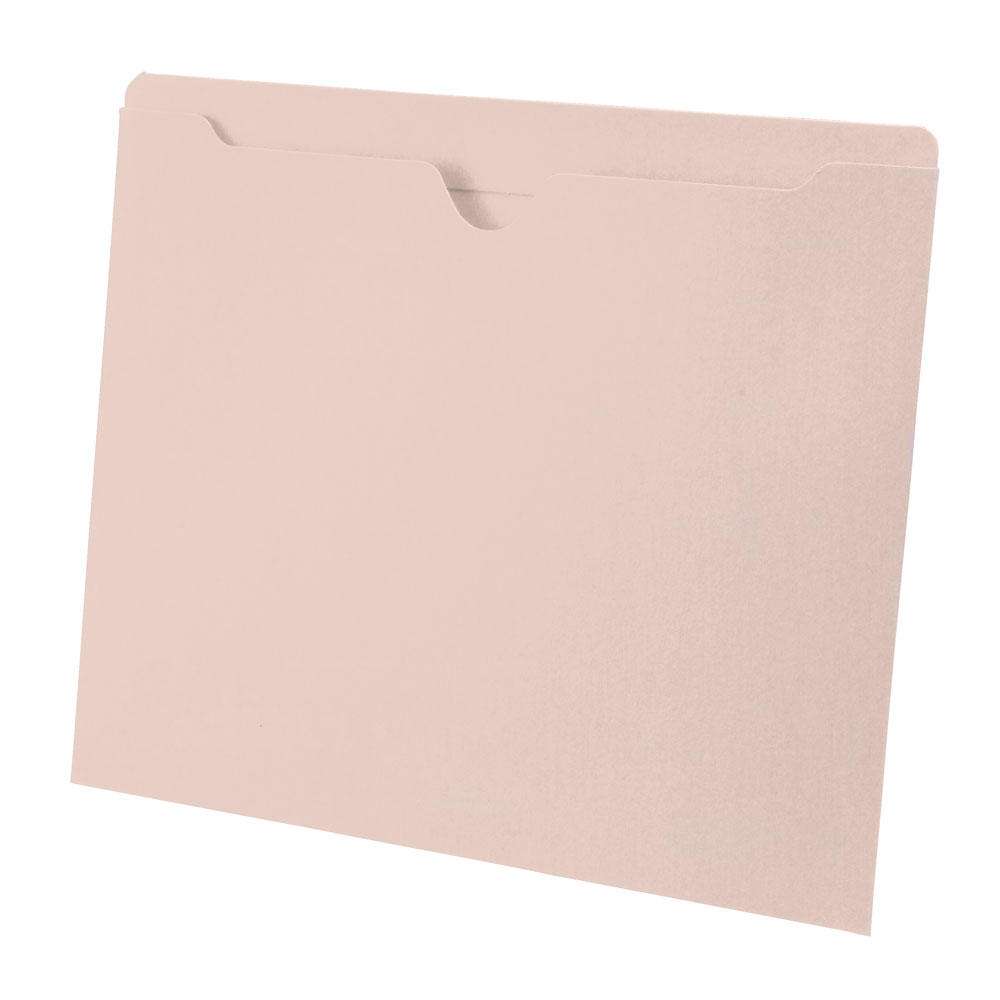 S-9046 - 14 pt Manila Pocket Folder, Top Tab, Letter Size (Box of 50)