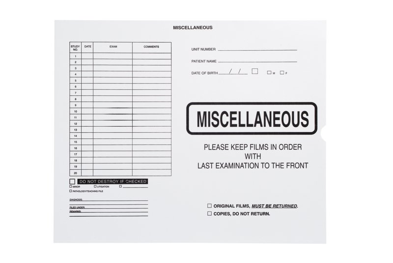 "S-90484 - Miscellaneous, No Border-Black Imprint - Category Insert Jackets, System I, Open End - 14-1/4"" x 17-1/2"" (Carton of 250)"