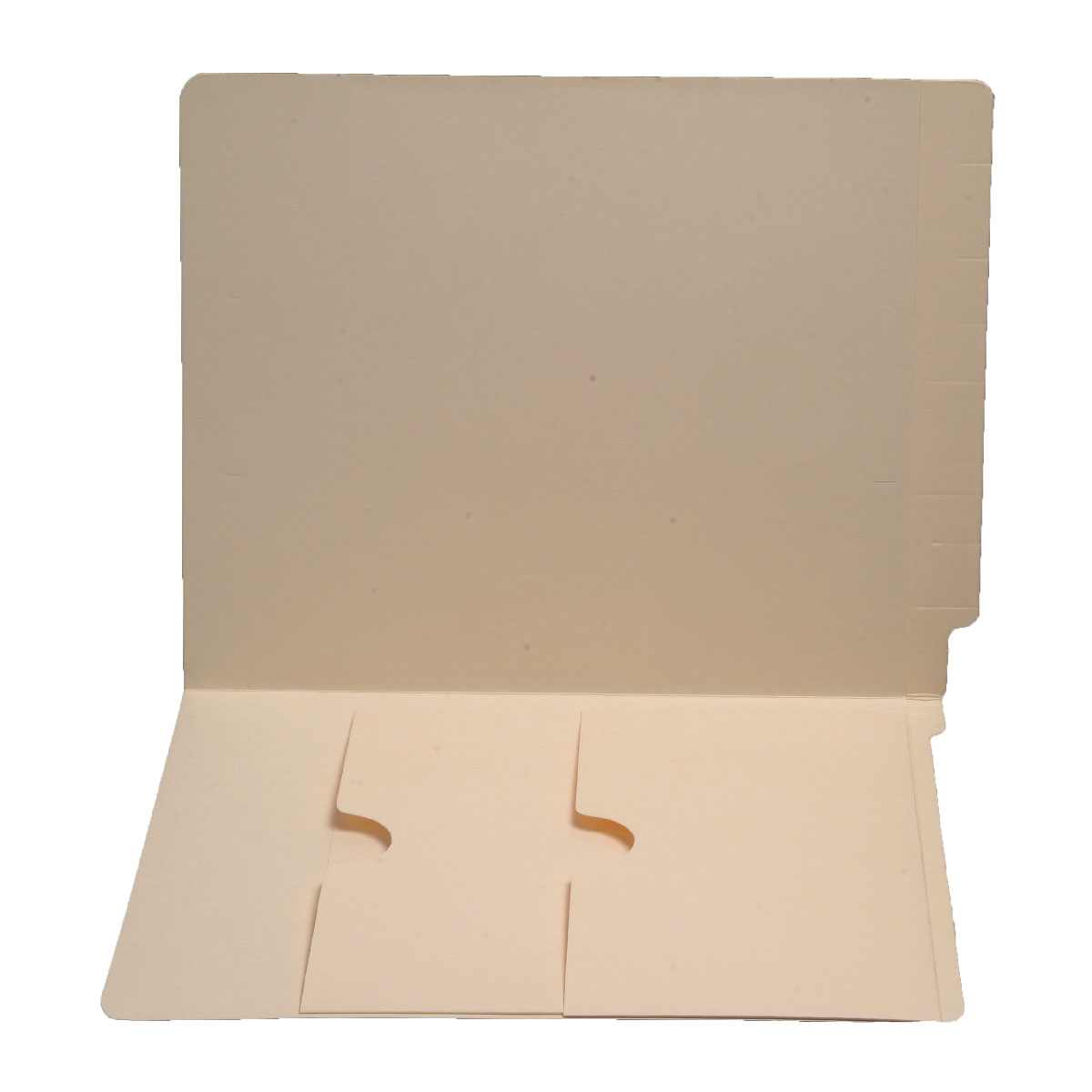 S-9050 - 11 pt Manila Folders, Full Cut End Tab, Letter Size, Double Pockets Inside Front (Box of 50)