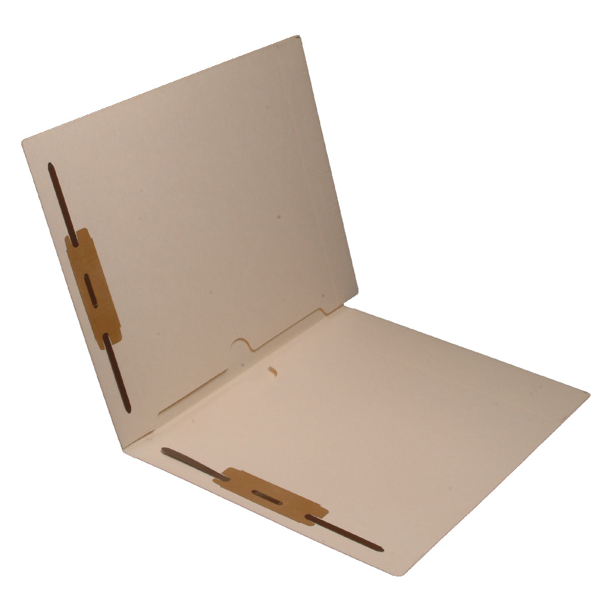 S-9068 - 11 pt Manila Folders, Full Cut End Tab, Letter Size, Full Pocket Front and Back, Fasteners Pos #1 & #3 (Box of 50)