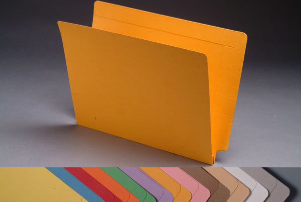 S-9077 - 14 pt Color Folders, Full Cut 2-Ply End Tab, Letter Size, 1-1/2