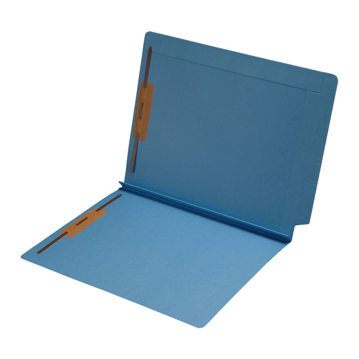 S-9078-BLU - 14 pt Color Folders, Full Cut 2-Ply End Tab, Letter Size, 1-1/2