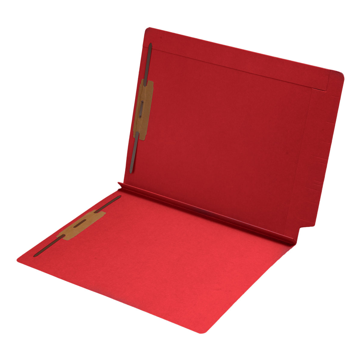 S-9078-RED - 14 pt Color Folders, Full Cut 2-Ply End Tab, Letter Size, 1-1/2