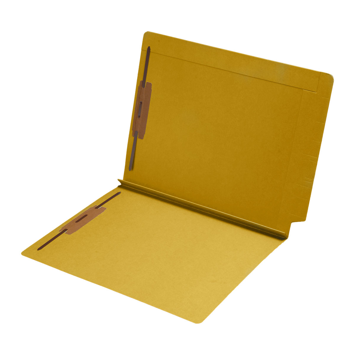 S-9078-YLW - 14 pt Color Folders, Full Cut 2-Ply End Tab, Letter Size, 1-1/2