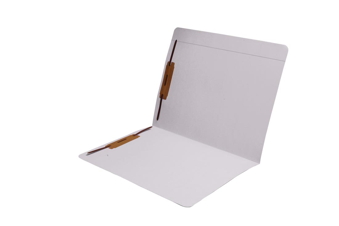 S-9083-WHT - 11 pt White Folders, Full Cut Reinforced Top Tab, Letter Size, Fastener Pos #1 and #3 (Box of 50)