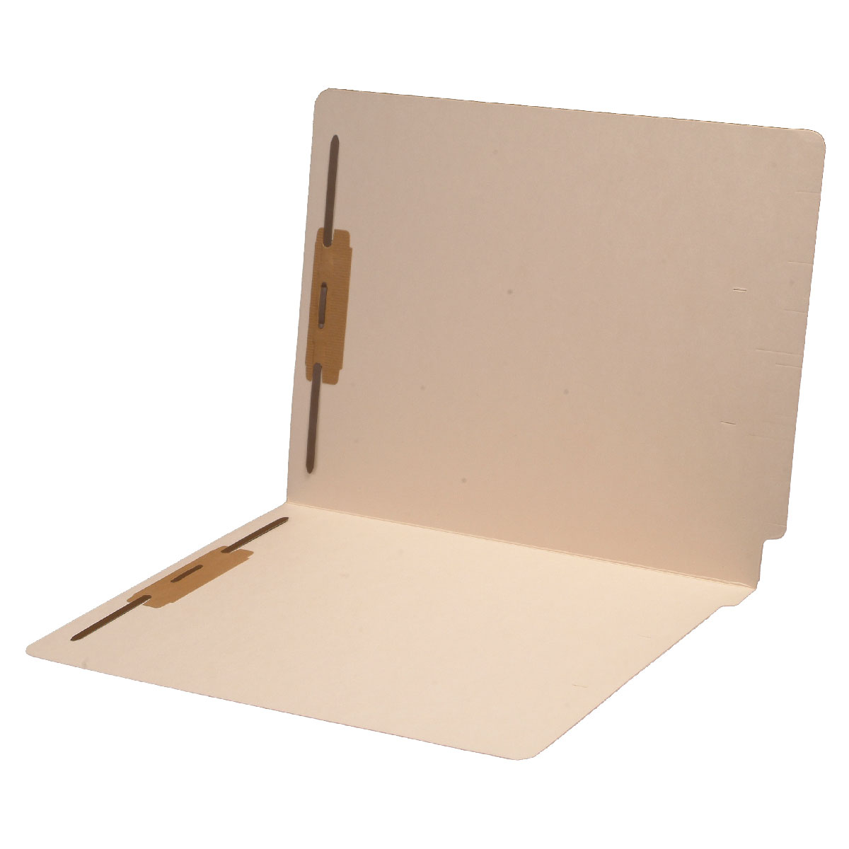 S-9087 - 18 pt Manila Folders, Full Cut End Tab, Letter Size, Fastener Pos #1 & #3 (Box of 50)