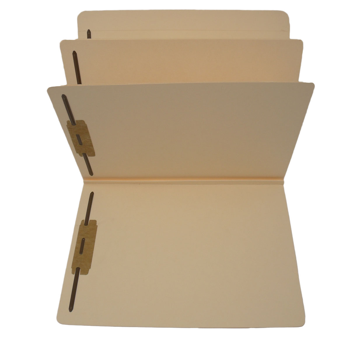 S-9088 - 14 Pt. Manila Classification Folders, Full Cut Top Tab, Letter Size, 2 Divider (Box of 15)